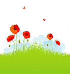 poppy background vector image vector image