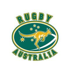 Rugby australia kangaroo wallaby vector