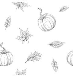 seamless pattern on autumn theme vector image vector image
