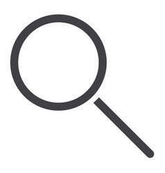 search glyph icon web and mobile magnifying sign vector image vector image