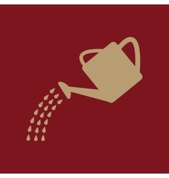 The watering can icon irrigation symbol flat vector