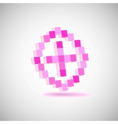 Three-dimensional Shape pixel style the plus vector image vector image