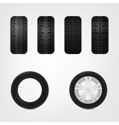 Tires collection vector image vector image