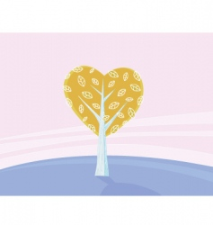 valentines tree of love vector image vector image