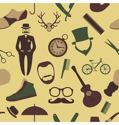 Vintage barber hairstyle and gentlemen background vector image
