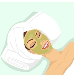 woman applying acne treatment vector image