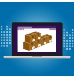 inventory management logistics system warehouse vector image