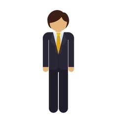 Silhouette man with formal suit vector