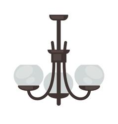 Lamp set isolated interior light design vector