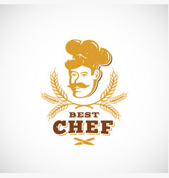 best chef abstract sign symbol or logo vector image