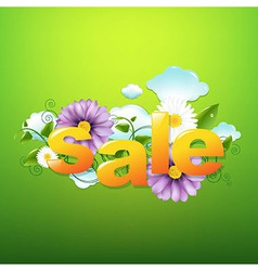 Sale poster with green background vector