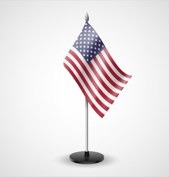 Table flag of usa vector