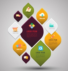 Abstract business info graphics with flat icons vector