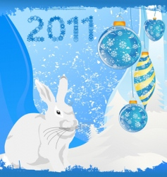 Year of a rabbit vector