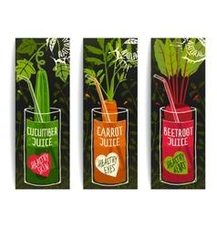 Drinking Diet Vegetable Juice Cartoon Design on vector image