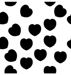 Elegant black heart pattern isolated on white vector image