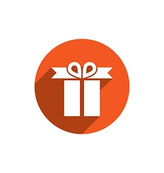 Gift box simple single color icon isolated on vector