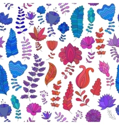 Seamless pattern with colorful flowers vector