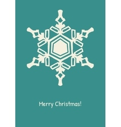 Abstract snowflake on color background vector