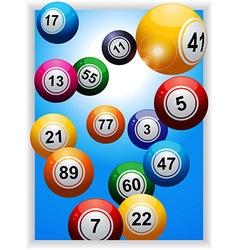 Bingo balls over portrait panel vector image