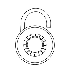 Open safety lock vector