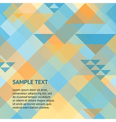 Abstract geometric orange and blue background vector image