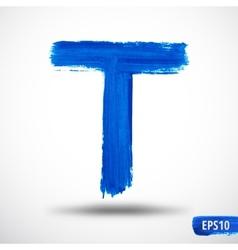 Alphabet letter t watercolor alphabet vector