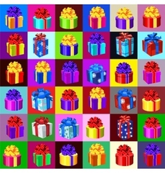 Big set of gift boxes and bags 36 icons vector
