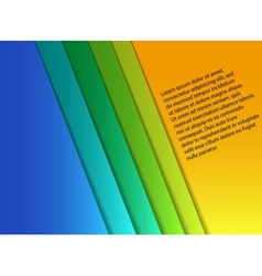 blank colorful paper sheets vector image