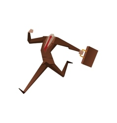 Businessman with no head vector image vector image