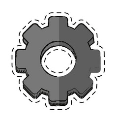 Cartoon gear engineer work cooperation vector