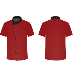 Chef uniform cook shirt vector