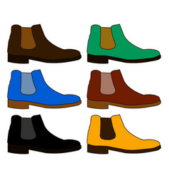 classic chelsea shoe style boot isolated on white vector image