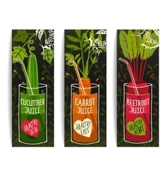 Drinking Diet Vegetable Juice Cartoon Design on vector image vector image