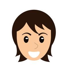 face woman head cartoon vector image vector image