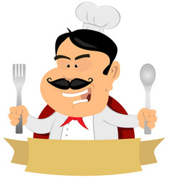 french master chef banner vector image