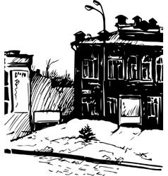 Hand drawn urban sketch vector