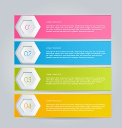 Infographics template for business education web vector image vector image