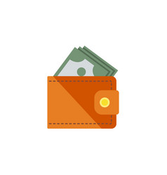 isolated money flat icon wallet element vector image vector image