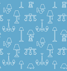Light fixture lamps seamless pattern line vector