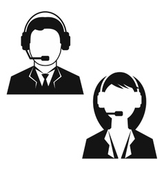 Man and woman from technical support vector