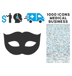 Privacy Mask Icon with 1000 Medical Business vector image vector image