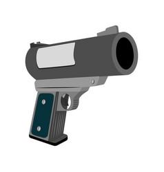 realistic flare gun vector image vector image