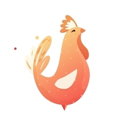 Red Rooster Chinese horoscope vector image