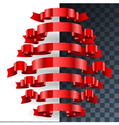 ribbon set vector image vector image