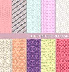 Set of Vintage Graphic Pattern vector image