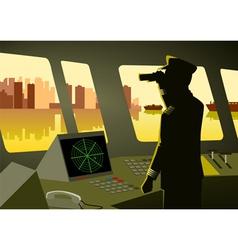 Ship captain vector