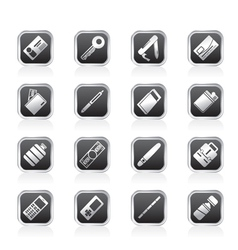 simple object icons vector image vector image