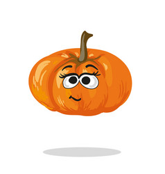 Smiling pumpkin cartoon mascot character vector