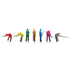 Snooker colour players vector